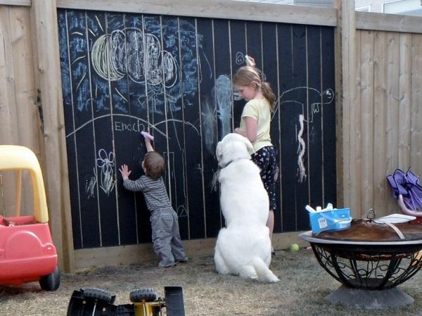 Chalkboard Fence