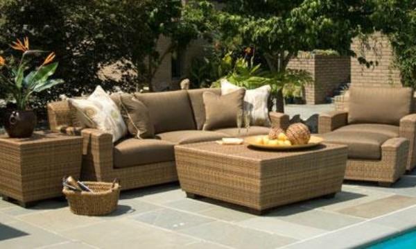 Outdoor furniture settings