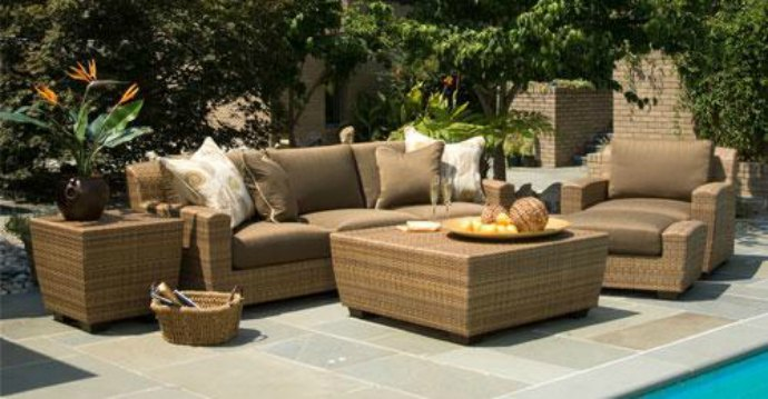 Outdoor furniture settings