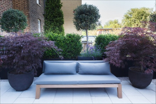 contemporary garden seating