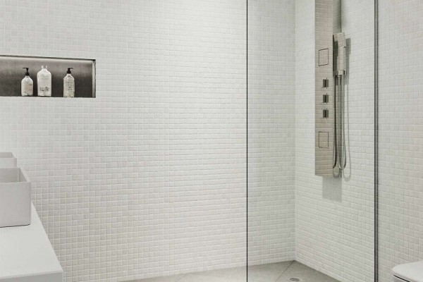 fixed panel glass shower screen2