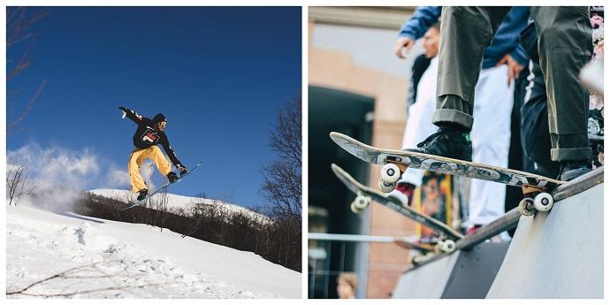 skateboard and snowboard gear