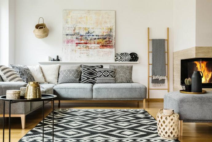 Boho-Living-Room-Rug Modern Home Decor