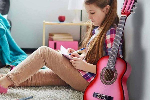 best pink childrens guitar