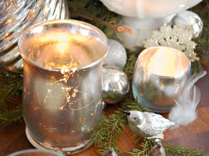 Silver-Mercury-Glass-Candle-Holder