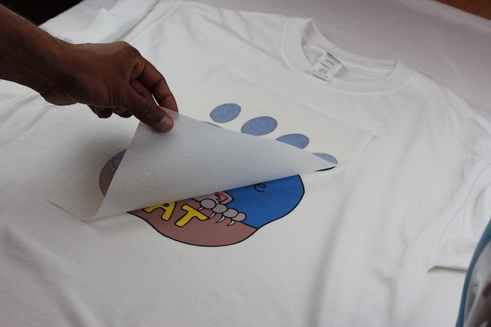 Transfer Paper on a T-Shirt