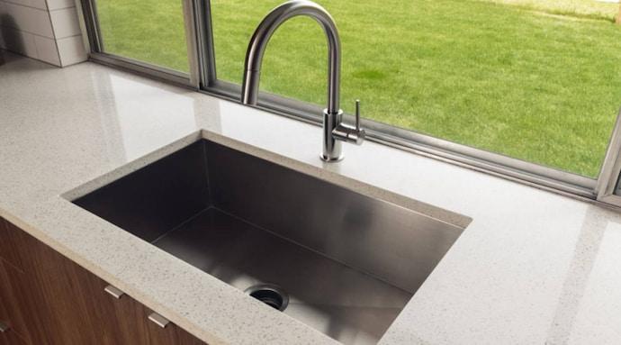 grey kitchen sink