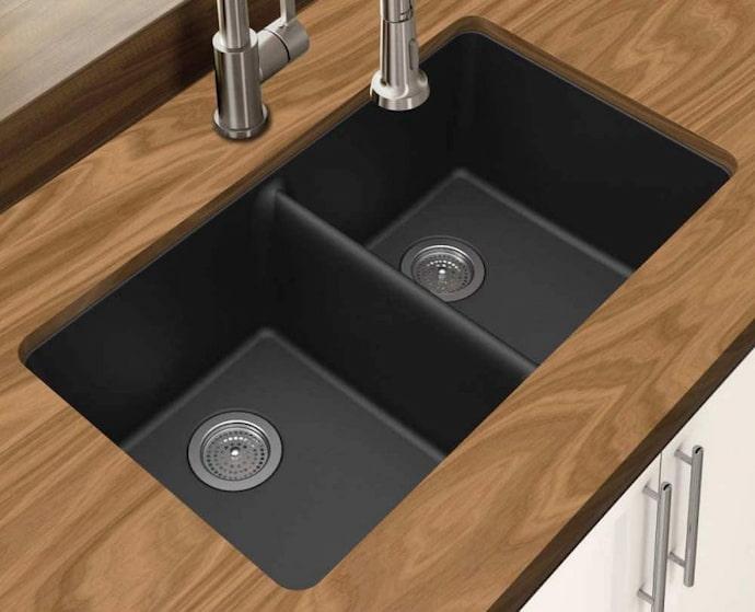 split kitchen sink