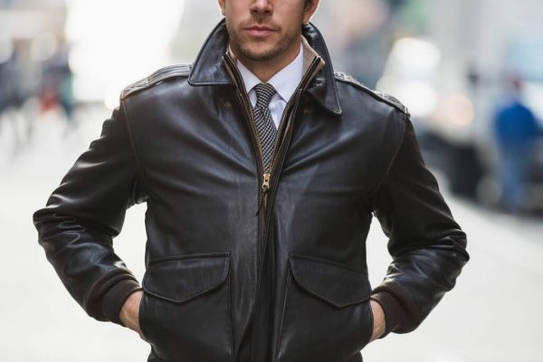 Air Force Leather Military Jacket
