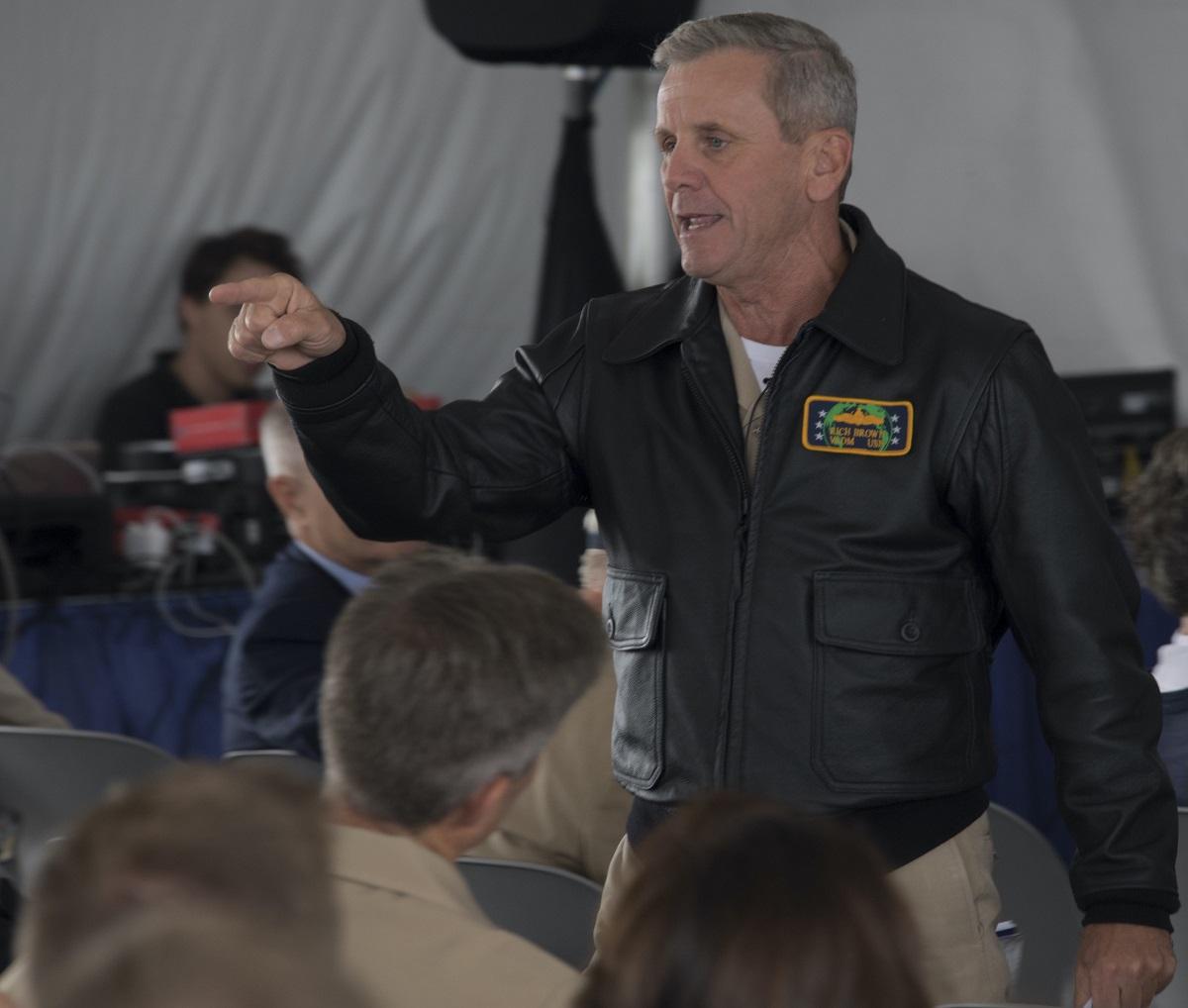 navy leather jacket