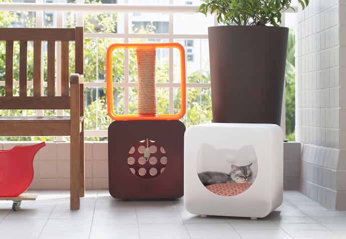 cat cube bed