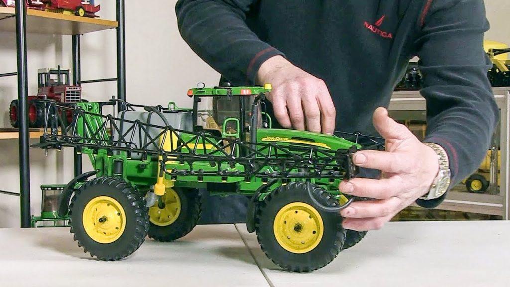 scale hand-built model farm equipment