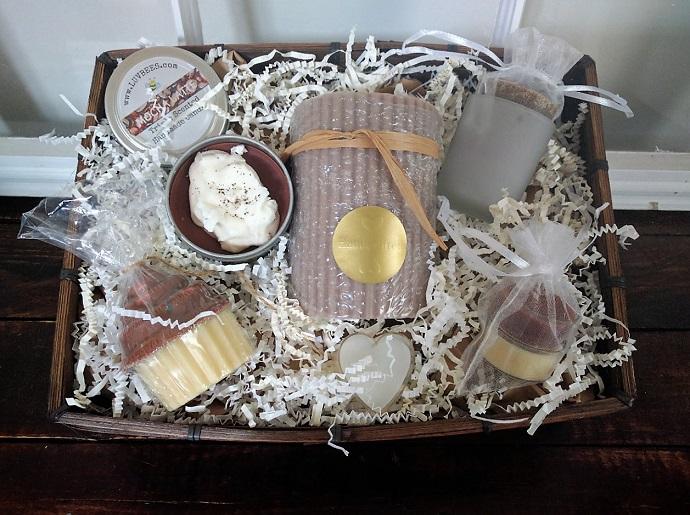 candle gift basket